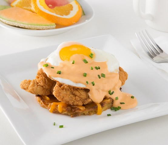 Chicken Fritter Potato Stack image