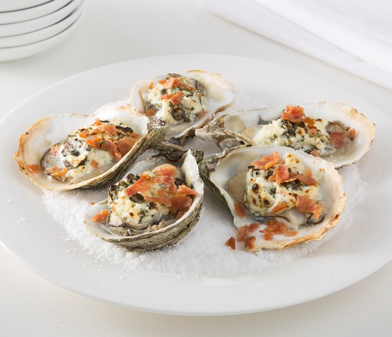 Oysters Rockefeller with Chicken Bacon image